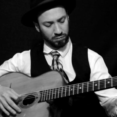 Alex Simon Gypsy Jazz live in the Roxy Bar for Saturday Brunch
