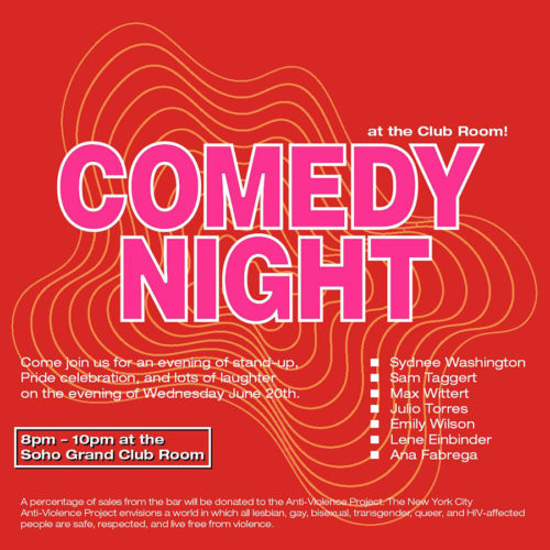 Comedy Night in Club Room