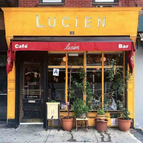 Lucien Restaurant in New York City.