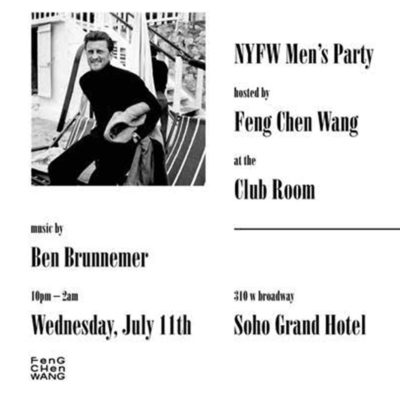 NYFW Hosted by Feng Chen Wang