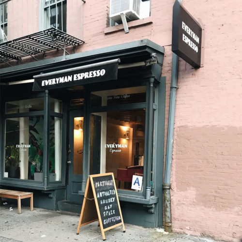 Everyman Espresso coffee shop in SoHo, New York