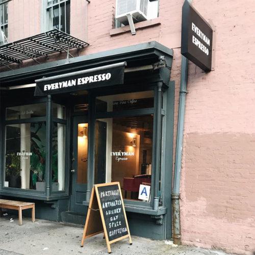 Everyman Espresso coffee shop in SoHo, New York
