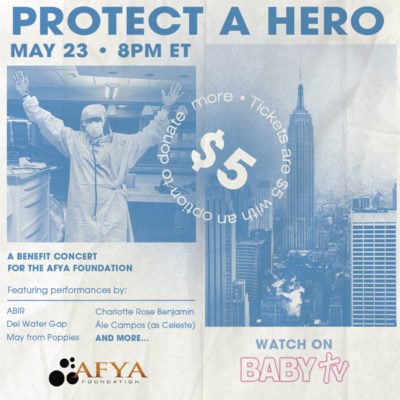 Protect a hero benefit concert baby tv brooklyn new york covid-19