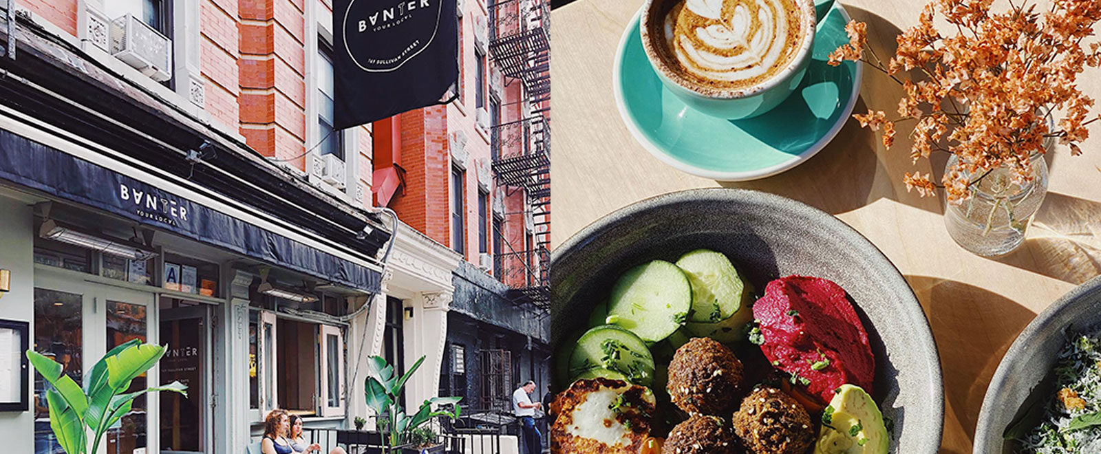 Australian cafe new york downtown banter two hands ruby's sonnyboy good thanks food dining coffee